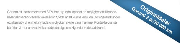 Fabriksrenoverade automatlådor för Hyundai-modeller